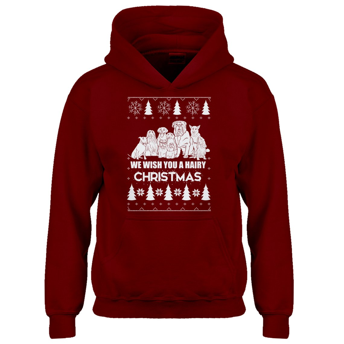 Indica Plateau Youth We Wish You a Hairy Christmas Kids Hoodie