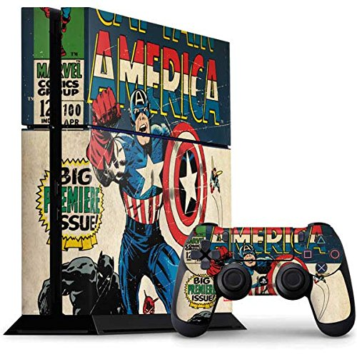 Comics Ps4 Console And Controller Bundle Skin   Captain America Big Premier Issue   Marvel   Skinit Skin