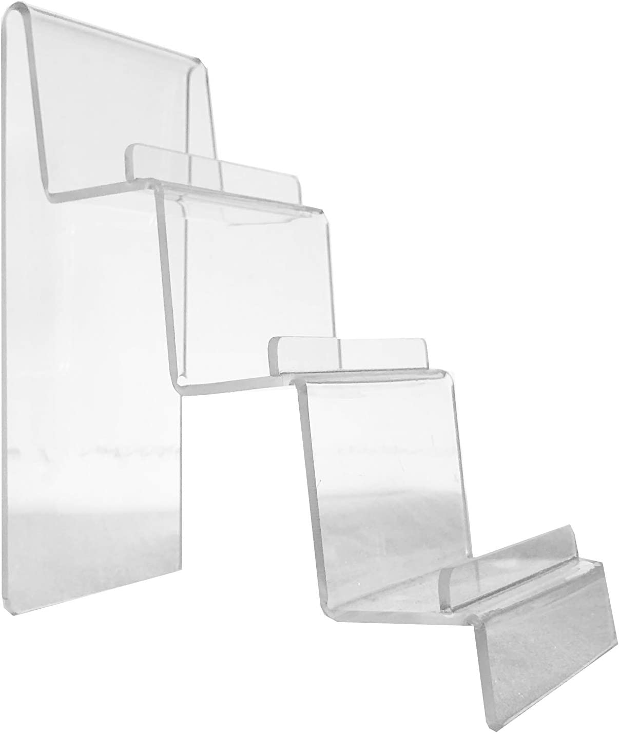 Clear Acrylic 3-Tier Wallet Display Stand Holder