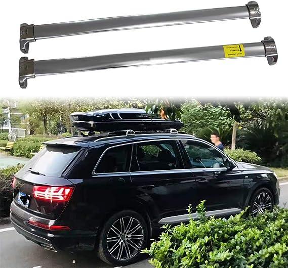 etesan 2 Pieces Black Crossbars Fit for Audi Q7 2016 2017 2018 2019 2020 2021 Lockable Roof Racks Cross Bars