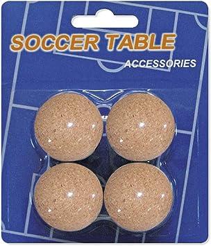 Devessport - Futbolín - Paquete de 4 Bolas de Corcho: Amazon.es ...