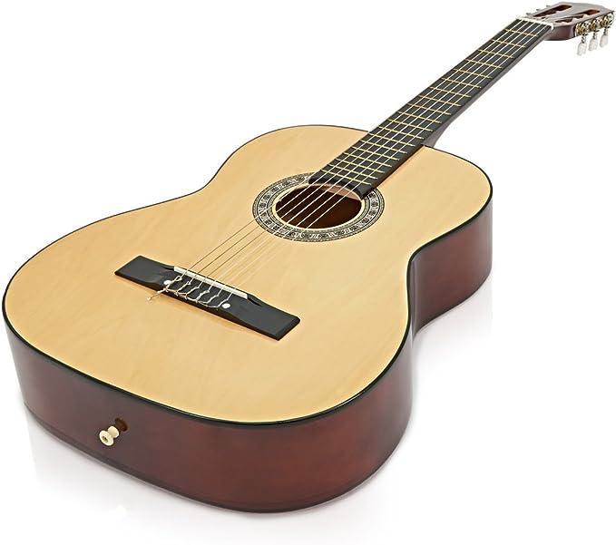 Guitarra Espanola de Gear4music Natural: Amazon.es: Instrumentos ...