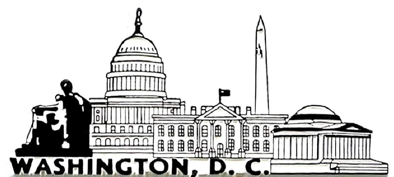 Washington D.C. 2D PVC Fridge Collector's Souvenir Magnet FMC