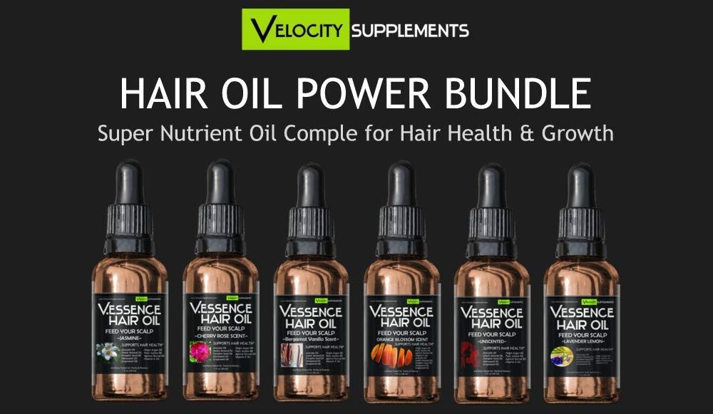 Hair Oil Bundle 6 Pack of Difference Scents
