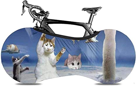 Funda para Bicicleta,Gatos Divertidos Happy Time In Sky Fundas De ...