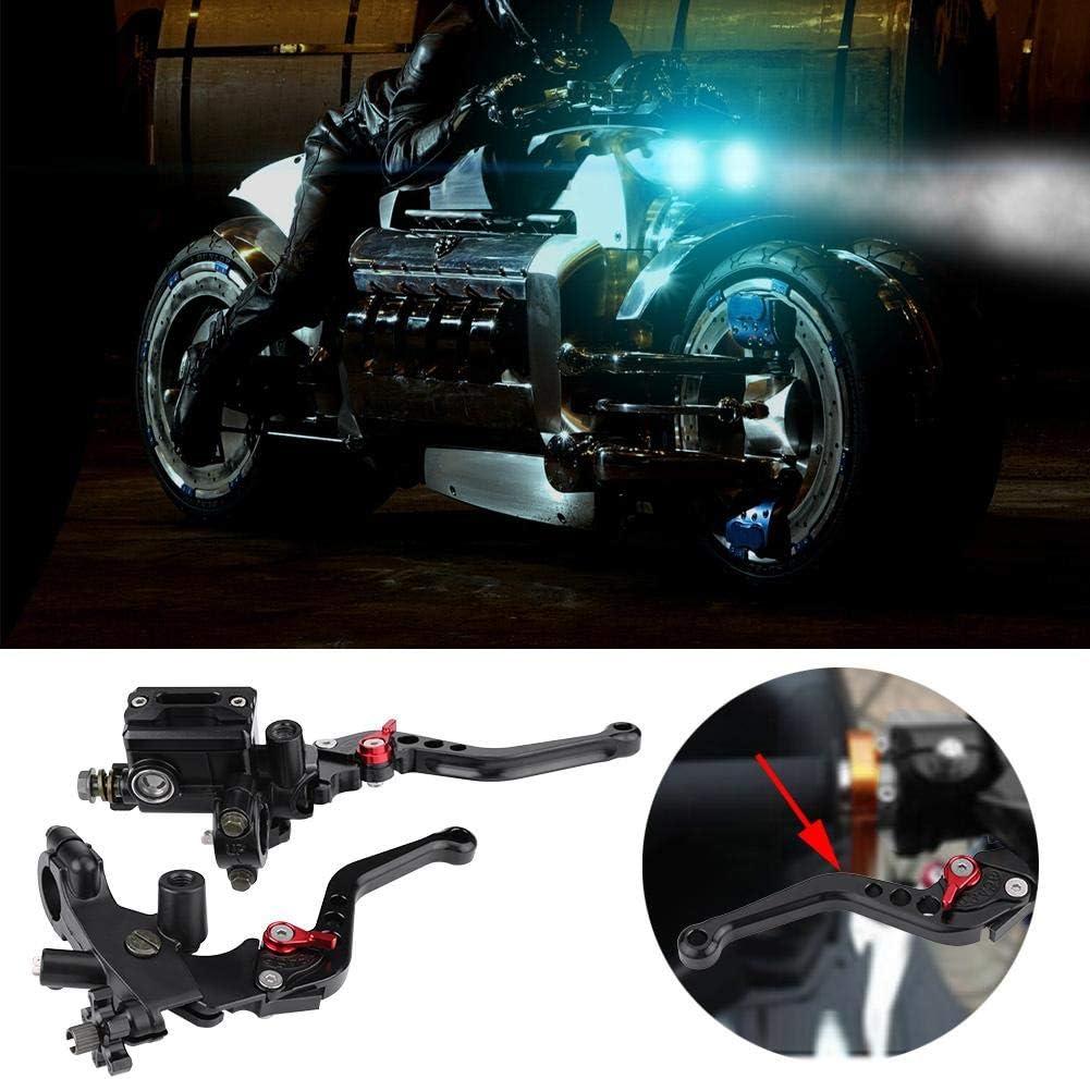Fydun Master Cylinder Levers 1 Pair Universal Motorcycle Brake Clutch Master Cylinder Reservoir Levers
