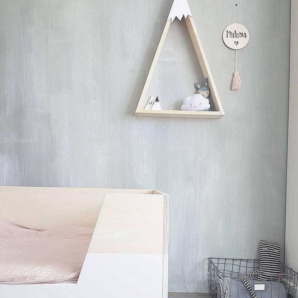 Sothat 2 Pezzi//Set Baby Room Parete nel Legno Neve Montagna Mensola Decorazione della Stanza dei Bambini Giocattoli Creativi Libri Portaoggetti nel Legno Nero