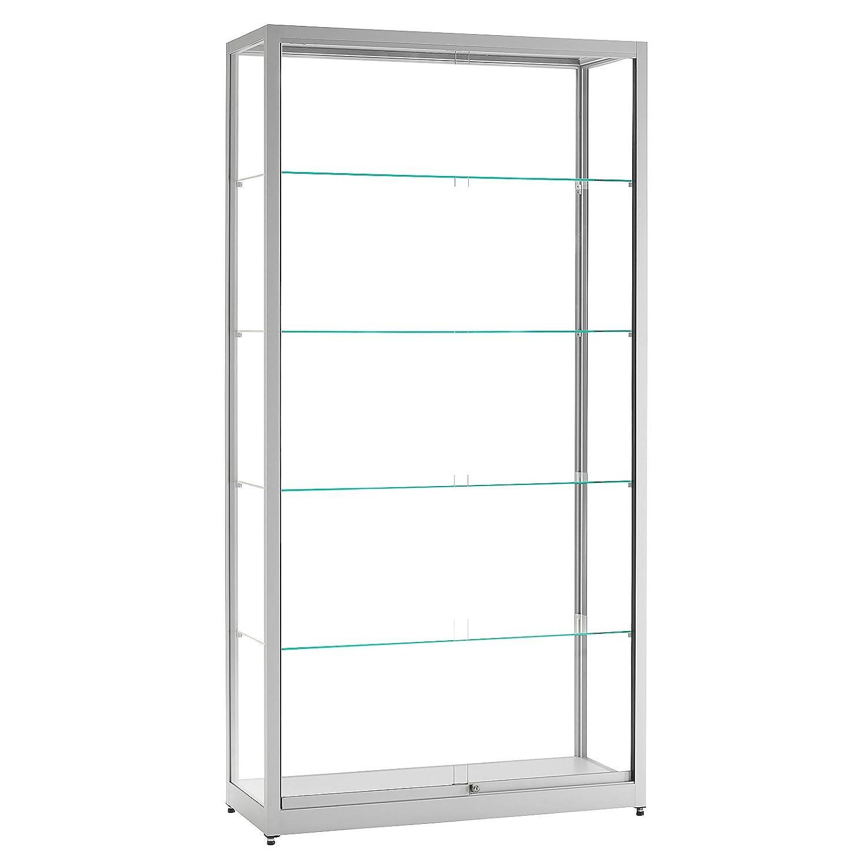 vitrine glasvitrine standvitrine sammlervitrine eco 1000 alu glas abschlie bar schiebet ren. Black Bedroom Furniture Sets. Home Design Ideas