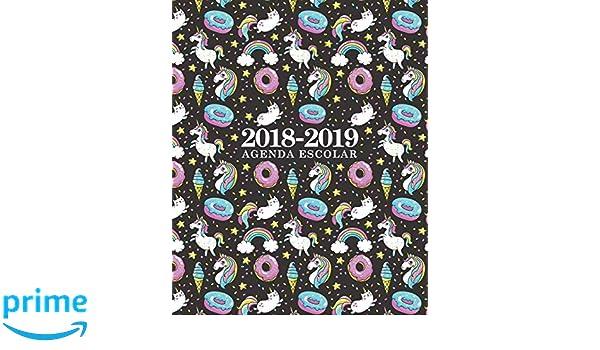 Amazon.com: Agenda escolar 2018-2019: 190 x 235 mm: Agenda 2018-2019 semana vista español: 160 g/m²: Agenda semanal 12 meses: Unicornios, gatos, ...