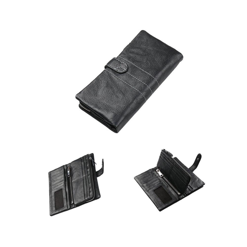 portafolios de 2926 piel para hombre para RFID de triple cierre ...