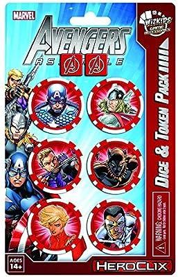 Marvel HeroClix: Avengers Assemble Dice and Token Pack - Captain ...