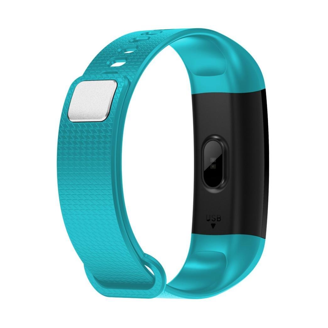 Tiean Y5 Smart Watch Sports Fitness Activity Heart Rate Tracker Blood  Pressure Watch (Mint Green)
