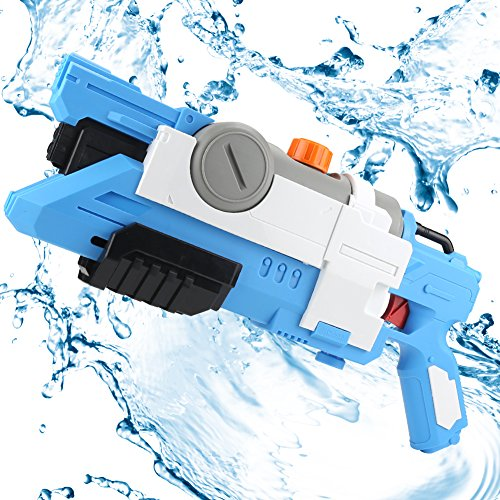 Young Choi's Kids Toy Water Gun, Large Capacity Water Blasters and Soakers for Boys, Summer Beach Water Toy for Kids (Blue)