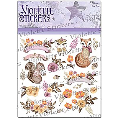Violette Stickers Woodland Animals: Office Products