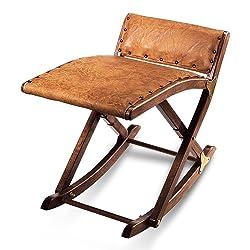 HC 936053commerciaux de jambe Balancelle repose-pieds Pied Interrupteur à bascule en bois massif avec housse en cuir synthétique rembourré 49x 41cm Marron vieilli
