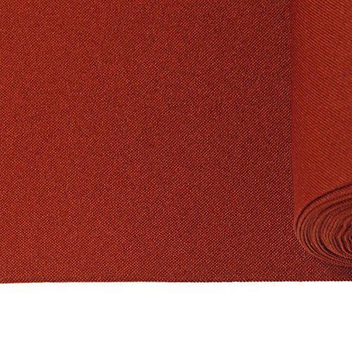 Textured Polyester Poplin Fabric, 58 Inches Wide, Over 100 Yards in Stock - 100% Textured Polyester - 50 Yard Bolt- Burgundy by Burlap Fabric (Image #1)