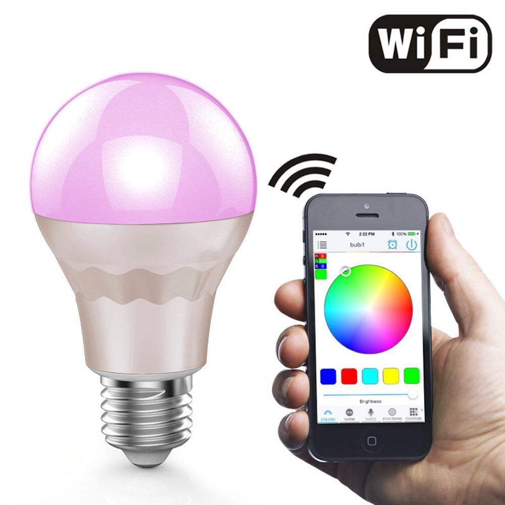 ZT WiFi Smart LED Birne Handy Android IOS Steuerung WiFi Glühbirne RGBW Wireless Remote + Timing
