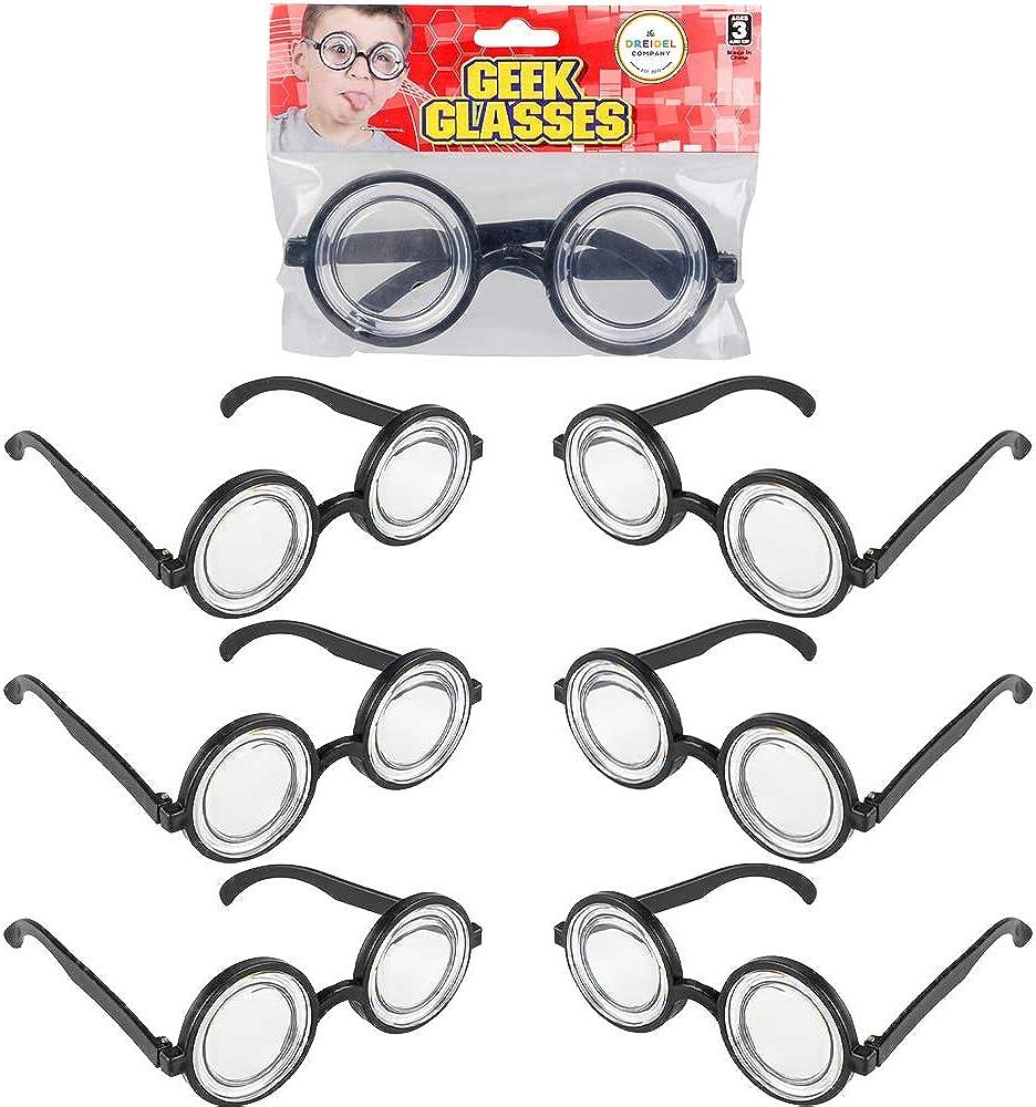 Toys for Kids 5.5 Magic Nerd Glasses Accessory Thick Nerd Glasses Round