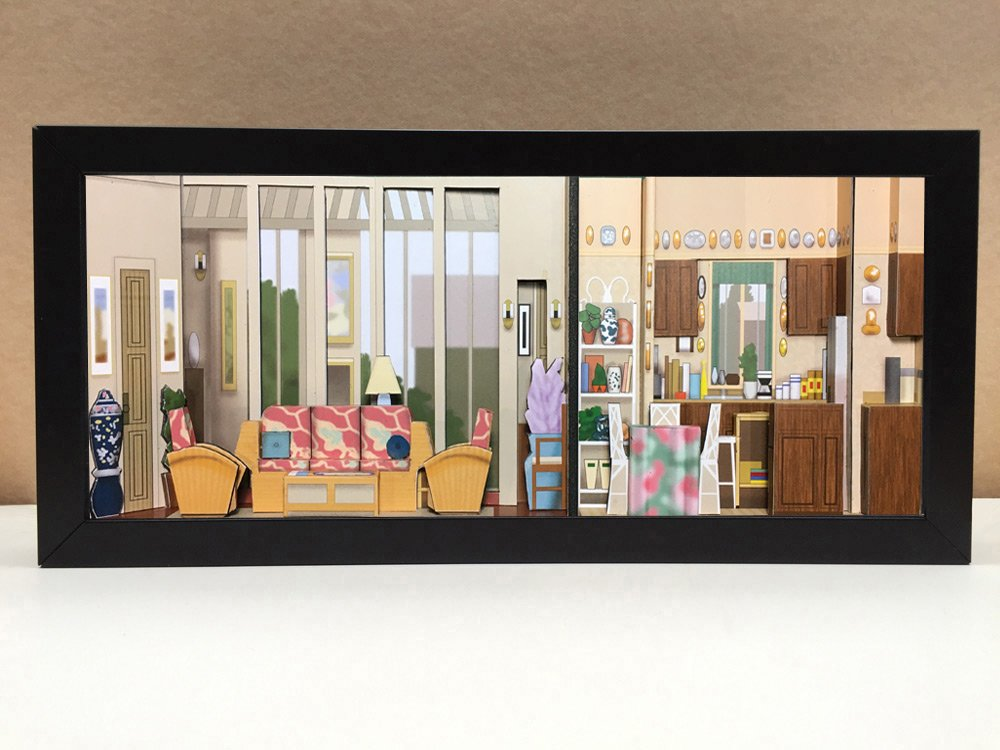 The Golden Girls set shadowbox diorama | Golden Girls merchandise for your diehard fan - memorabilia picture art collector gift