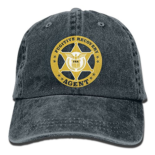 Agent Hat - Richard FUGITIVE RECOVERY AGENT Adult Cotton Washed Denim Leisure Caps Hats Adjustable Navy