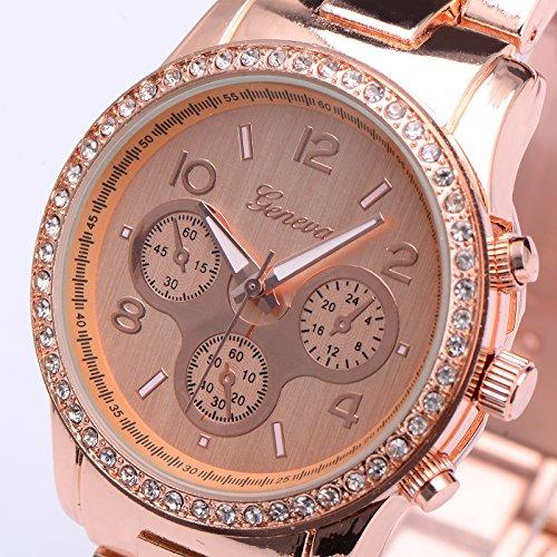 CLE DE TOUS Reloj de Pulsera de Cuarzo para Mujer Metal Aleacion Color Rose Gold: Amazon.es: Deportes y aire libre