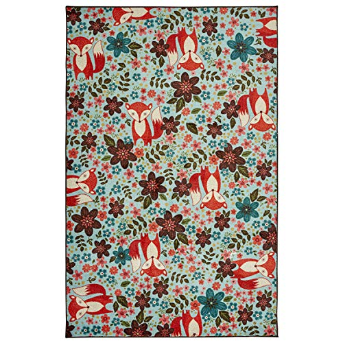 Mohawk Home Z0324 A416 060096 EC Prismatic Enchanted Forest Fox Printed Contemporary Kids Area Rug 5'x8',