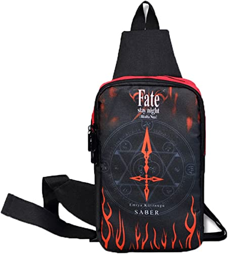 Gumstyle Anime Fate Zero Crossbody Sling Bags Backpack Rucksack Shoulder Bag Daypack Chest Bag Hiking 2
