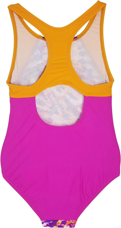 Speedo Girls Splice Thick Strap One Piece Swimsuit
