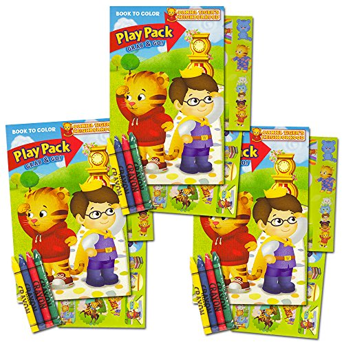 Daniel Tiger Ultimate Party Favors Packs -- 3 Sets with Stickers, Coloring Books, Crayons and Licensed Reward Stickers (Party Supplies) -