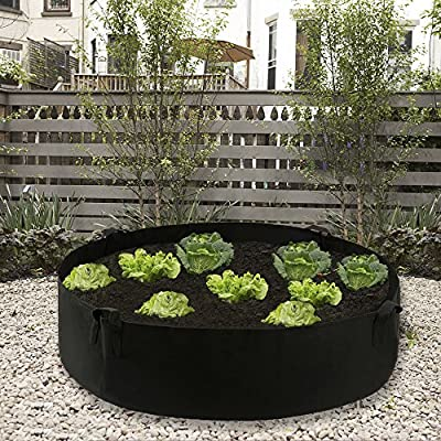 Povkeever Extra Large Fabric Raised Planting Bed, Round Raised Planter Grow Bag Garden Bed Bag for Herb Flower Vegetable Plants : Garden & Outdoor