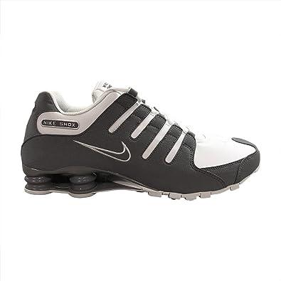 3867eda3370 ... real nike mens shox nz sneakers new white grey 378341 198 sz 11.5 1d7ad  7834c