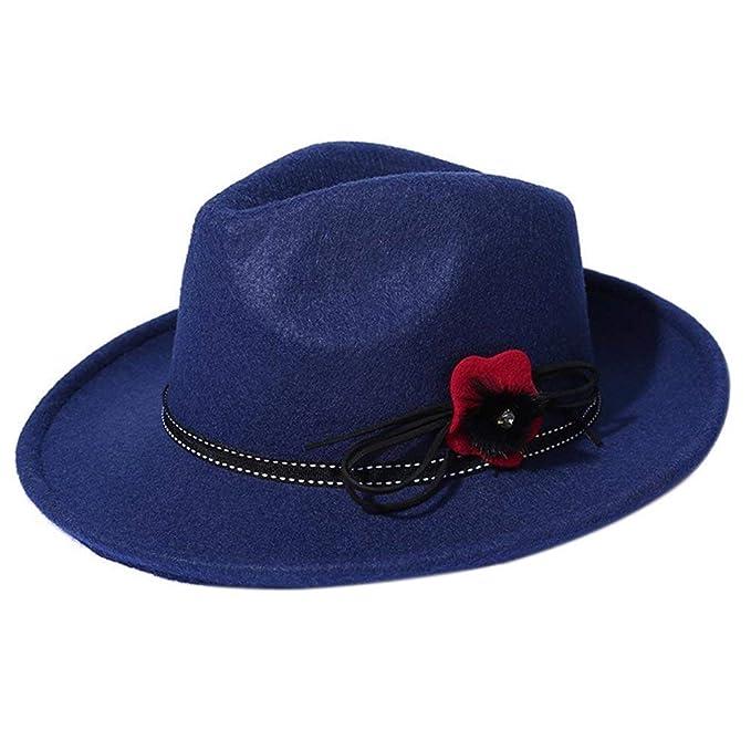 Gorros Gorro De Jazz para Mujer Sombrero De Fieltro Sombrero Fácil De Igualar  Holgado Sombrero Elegante 70c34f17f39f