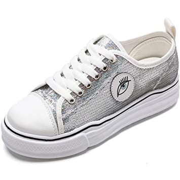 Zapatos De Lona De Corte Bajo Retro Zapatos Casuales De Estilo ...