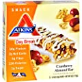 Atkins Day Break Bar Cranberry Almond - 5 Bars - Good for all Atkins Phases