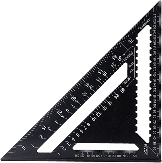 12/'/' Aluminum Alloy Speed Square Quick Roofing Rafter Triangle Ruler