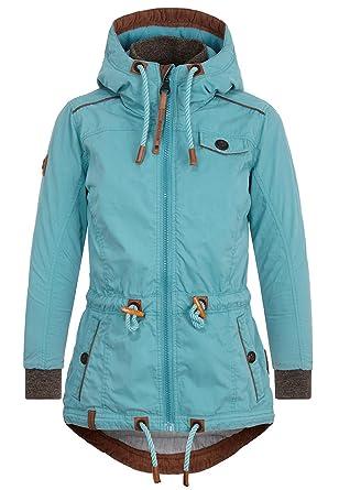 539e4fc1b3 Naketano Women's Parka Plain Long Sleeve Jacket Small - Turquoise ...