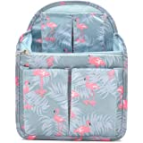 HOYOFO Backpack Organizer Insert Travel Backpack Purse Organizer for Mens and Womens Shoulder Bags Flamingo