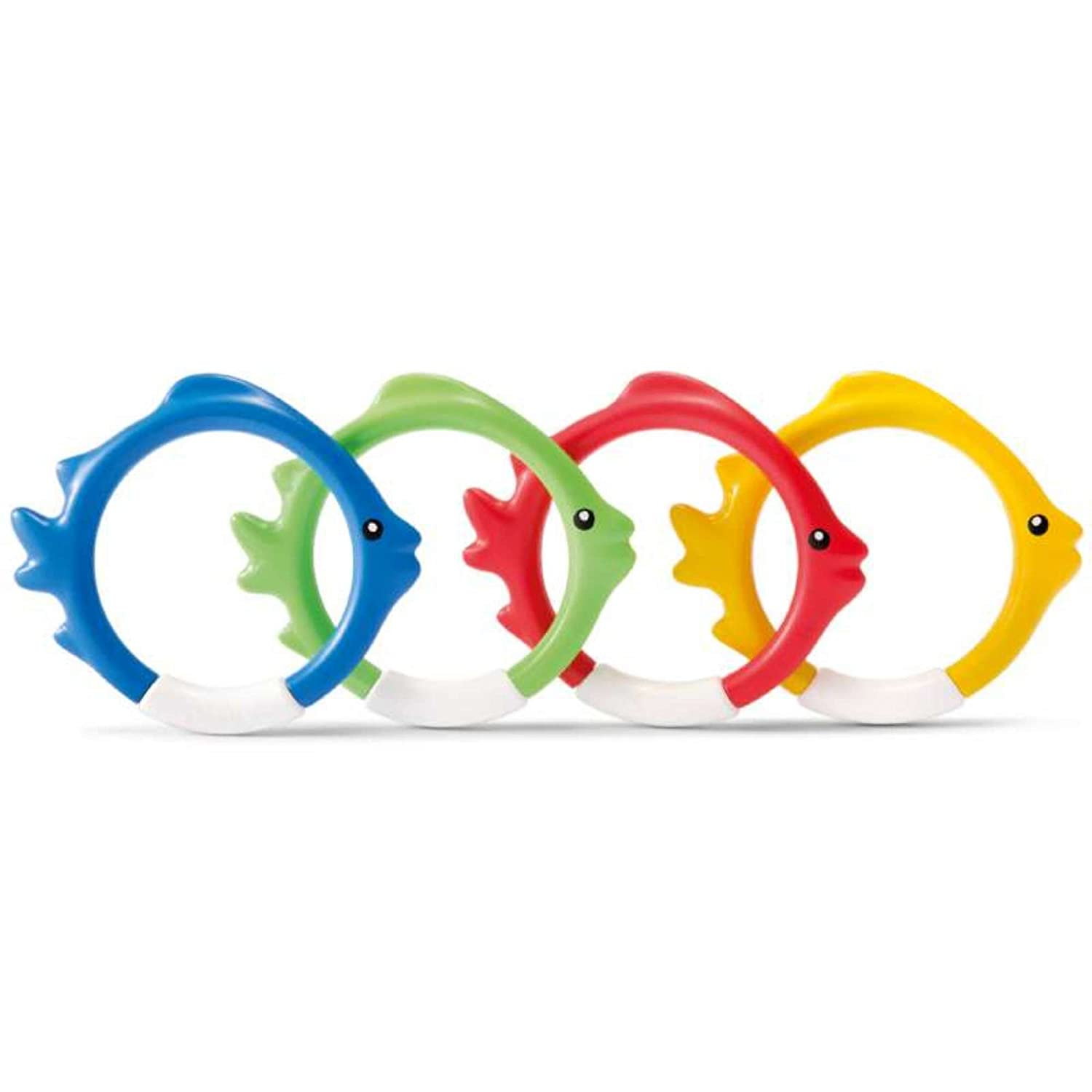 Intex Set of Four Coloured Fish Rings for Swimming Pools 6941057408323