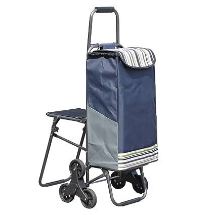 carrito de compras Carro para escaleras de escalada Carrito de compras Trolley Con bolsa de capacidad