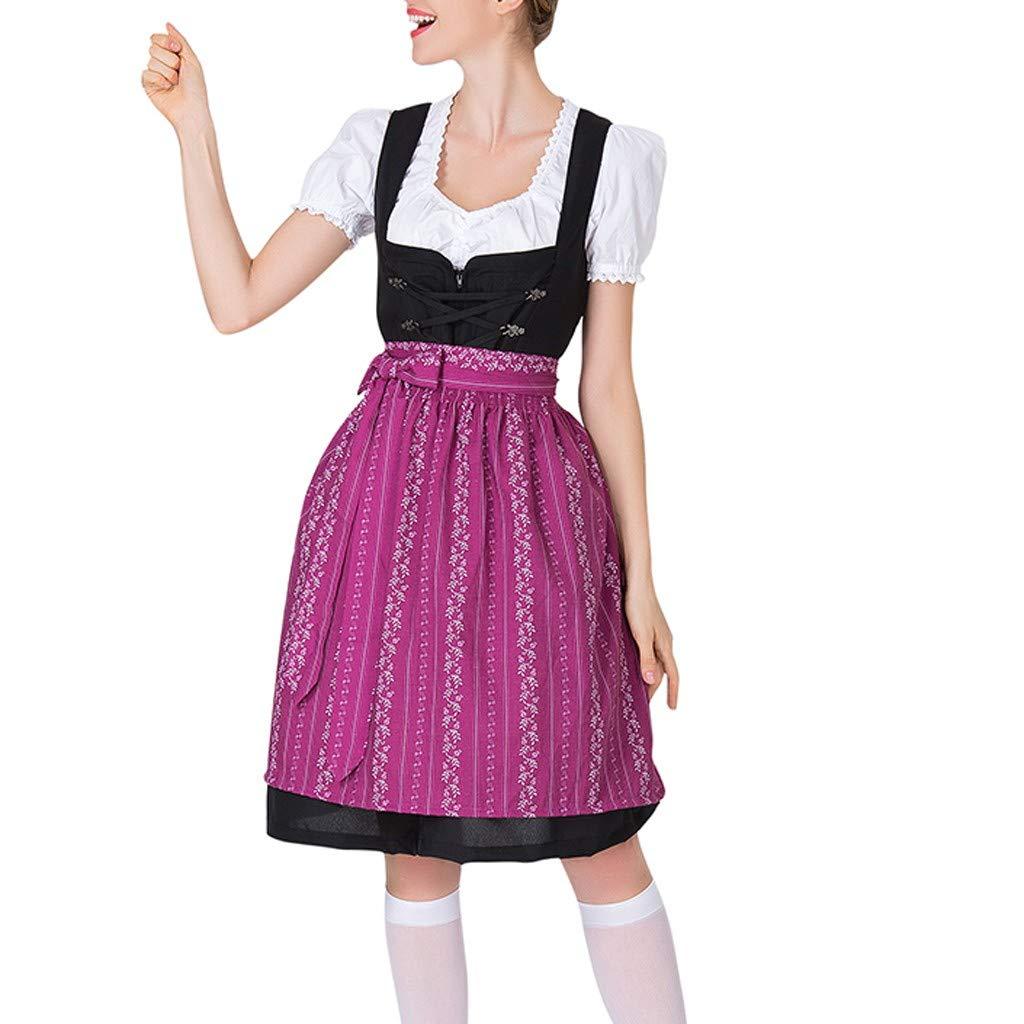 Women's Cosplay Costumes, ✔ Hypothesis_X ☎ Beer Festival Dress Bavarian Beer Festival Beach Mini Dress Purple