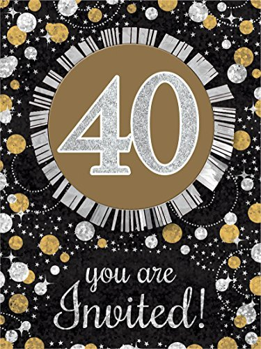 Sparkling Celebration 40 Invitations