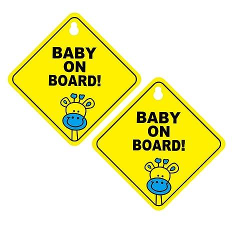 NUOBESTY letrero de bebé a bordo (paquete de 2) - letrero de ...