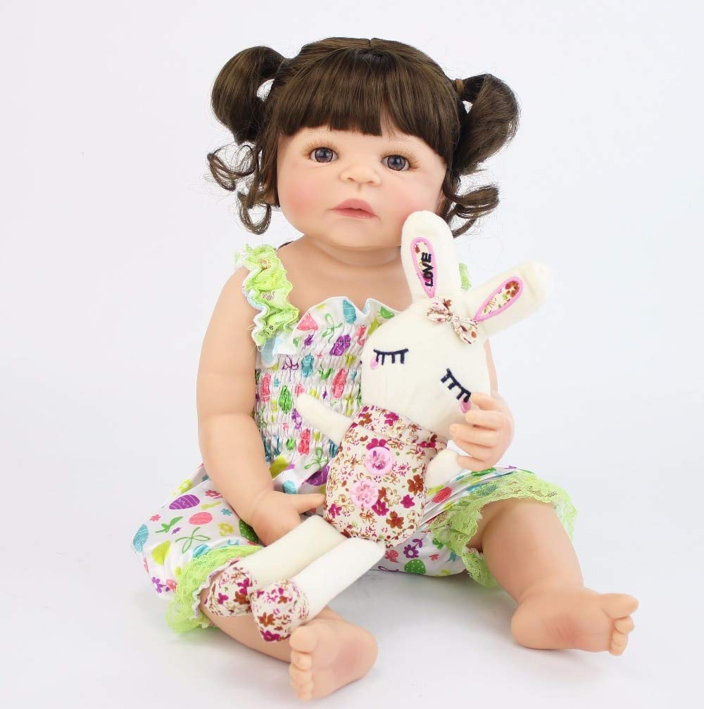 4d764a4e2 Amazon.com  NPK collection 55cm Full Silicone Vinyl Reborn Baby Doll Toy  for Girl Newborn Princess Babies Bebe Alive Bathe Accompanying Toy Birthday  Gift  ...