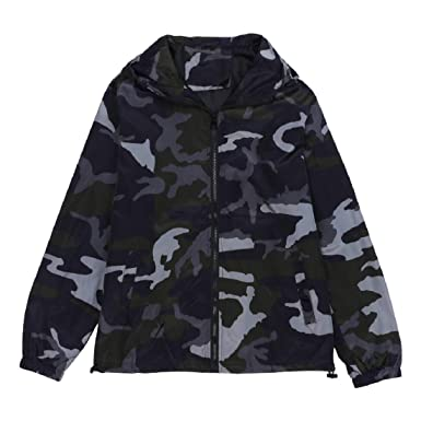 86d5045cf9d Image Unavailable. Image not available for. Color  GONKOMA Fashion Plus Size  Mens Hoodies Camouflage Camo Full Zip Jacket ...
