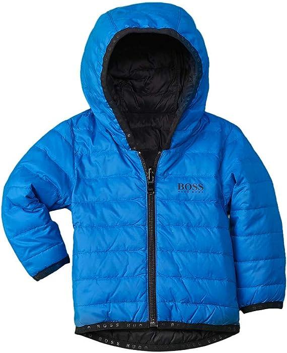 89cb2965741 Amazon.com: Hugo Boss Boys Reversible Down Jacket, 3M, Blue: Clothing