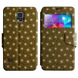 LEOCASE flor linda Funda Carcasa Cuero Tapa Case Para Samsung Galaxy S5 I9600 No.1002899