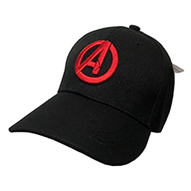 7ceeae62 Image Unavailable. Image not available for. Color: Marvel Avenger Age Of  Ultron Logo Adjustable Hat Cap Official Licensed Black