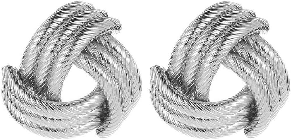 Flyrens Moda Pendientes Exageradas Cruz Geométrica Patrón Metal Stud Earrings Accesorios Creativos