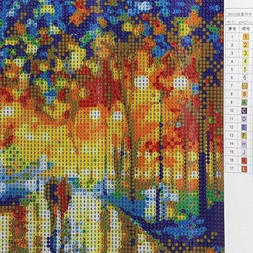 Tangc DIY Colorful Trees Counted Cross Stitch 5D Diamond Embroidery ...