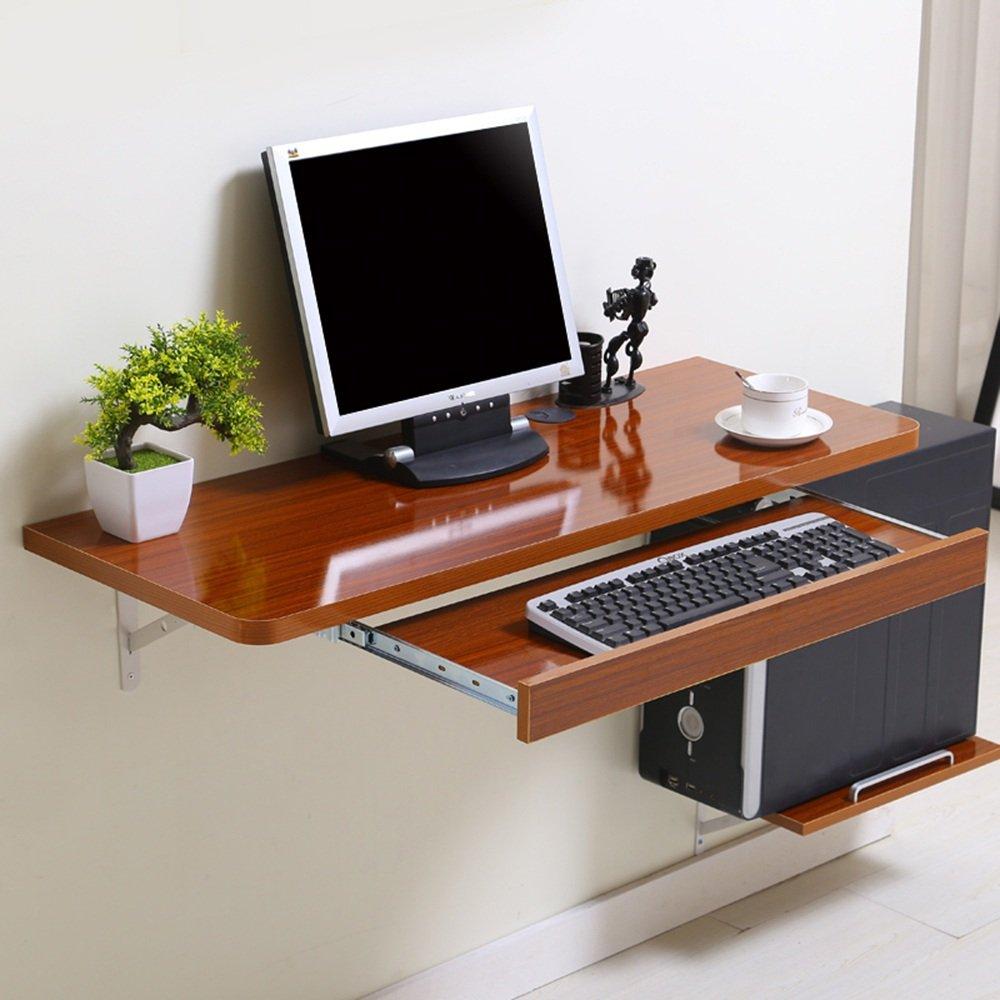 マチョン コンピュータデスク シンプルなデスクトップコンピュータのデスクの壁のテーブル (色 : BROWN, サイズ さいず : 100*40cm) B07DZNJVYZ 100*40cm|Brown Brown 100*40cm